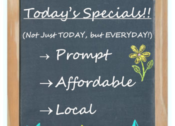 Check out our Specials Page!